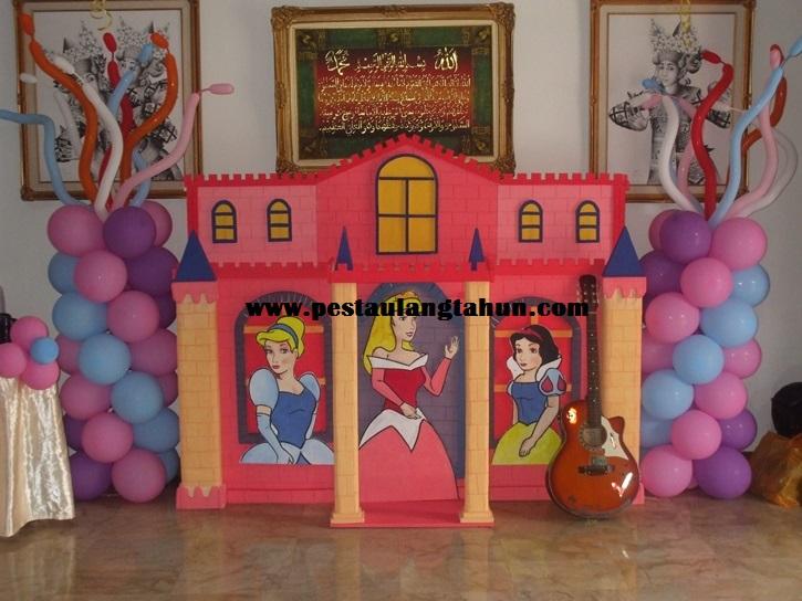 Dekorasi 2d pesta ulang tahun anak tema princess