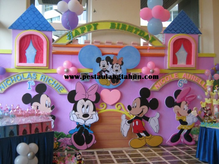 Dekorasi 3d pesta ulang tahun anak