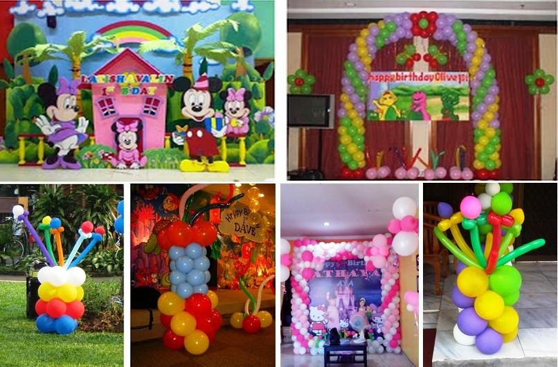 Dekorasi ulang tahun balon standing