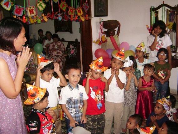 pesta ulang tahun anak sederhana
