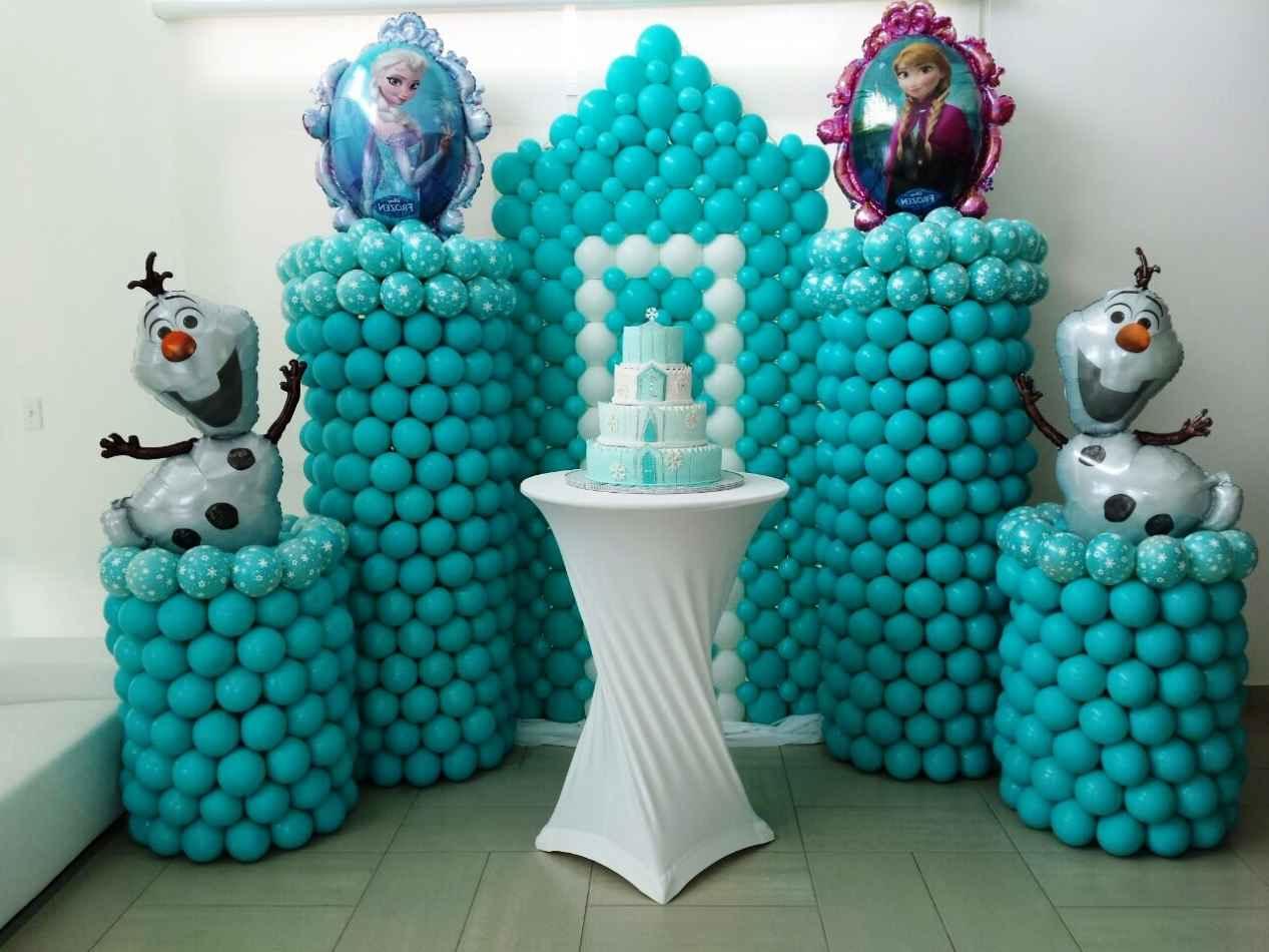 Dekorasi balon ulang tahun tema frozen