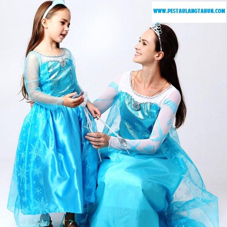 kostum ulang tahun anak perempuan tema frozen